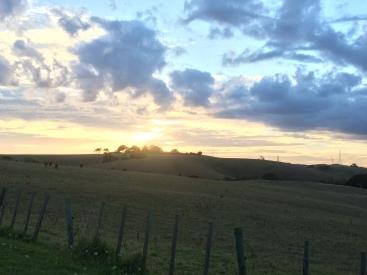 Watching amazing sunsets